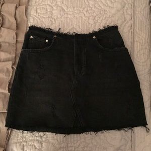 Urban Outfitters black denim skirt